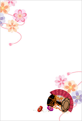Mihoの年賀状のフレームイラスト2
