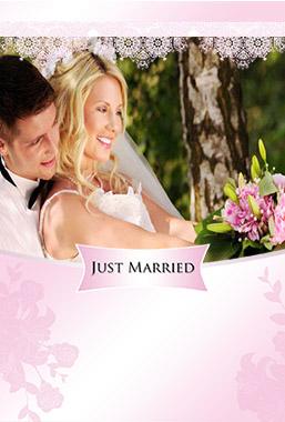 結婚報告はがき 無料テンプレート Andante
