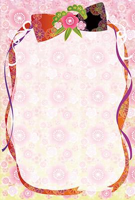 年賀状桜屋の背景イラスト1