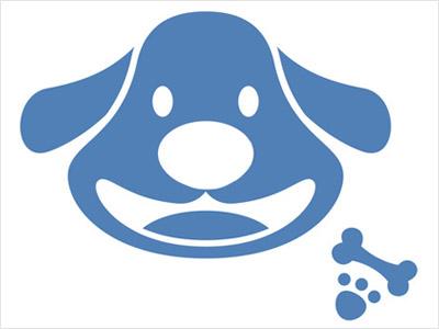 カジャルな犬の無料素材