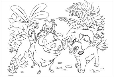 ライオン・キングの塗り絵