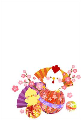 年賀状桜屋無料素材1