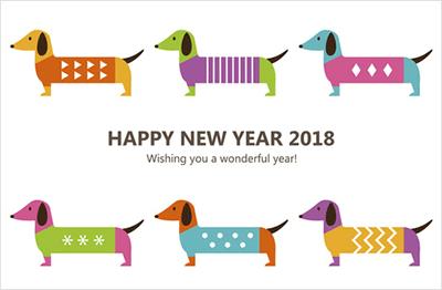 年賀状2018エプソンの無料デザイン紹介