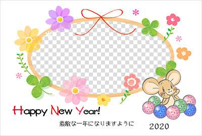 赤ずきんちゃんの年賀状イラスト写真デザイン1