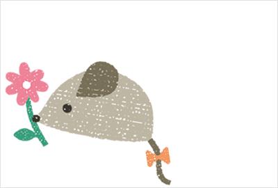 刺繍風の鼠イラスト