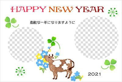 赤ずきんちゃんの年賀状イラスト写真デザイン2