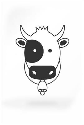 かわいい仔牛