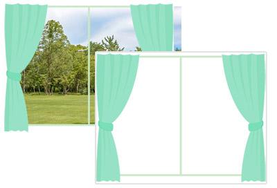 写真フレームタイプと一般的なテンプレートの大きな違いは、「透過」にあります。